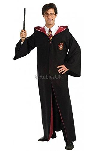 (Offiziell Lizenziert Herren Damen Erwachsene Harry Potter Robe mit Kapuze Buch Tag Woche Verkleidung Kleid Kostüm Outfit)