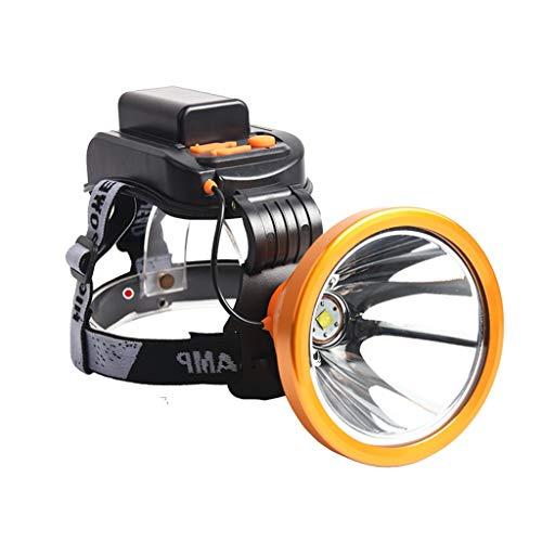 Lampade da testa fari luci sportive all'aperto luci per pesca notturna luci per arrampicata luci minerali fari ricaricabili (color : yellow, size : 10 * 13 * 6cm)