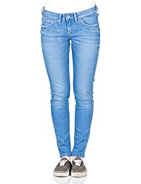 Pepe Jeans London Damen Jeans Ripple - Slim Fit - Blau - Steel True Blue Denim