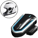fancartuk Auricolare Bluetooth Impermeabile BT Casco da Moto Interphone Auricolare per 2 o 3 Piloti e Audio da 2.5 mm per walkie Talkie GPS Mani libere MP3 Player FM Radio (Confezione da 1)
