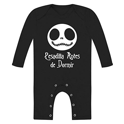 Body bebé unisex. Pesadilla antes de dormir. Parodia Jack - Pesadilla