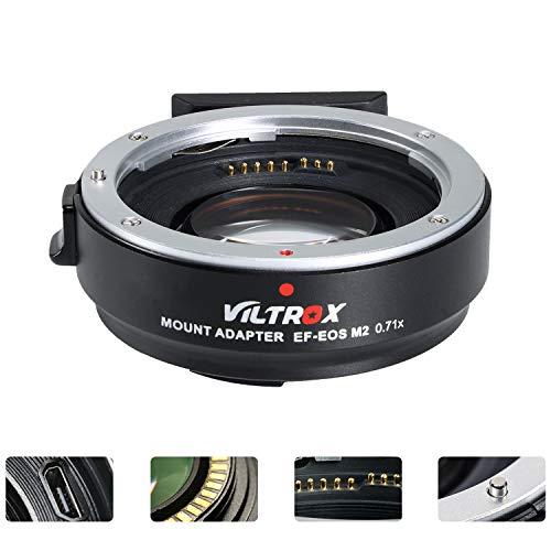 VILTROX EF-EOS M2 Objektivadapter 0,71x Speed Booster für Canon EF Objektiv auf EOS EF-M spiegellose Kamera M50 AF Autofokusreduzierer -