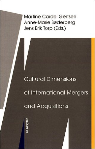 Cultural Dimensions of International Mergers and Acquisitions (de Gruyter Studies in Organization, Band 85)