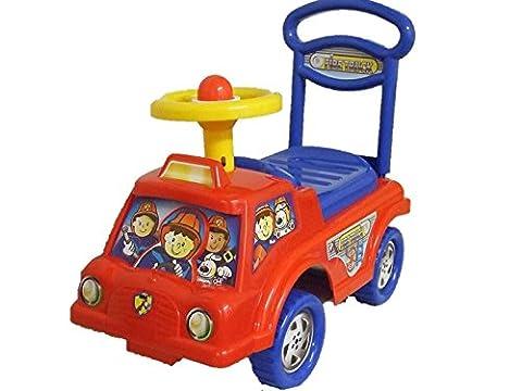 Push Along Children Smart Ride On Car Fire Engine Truck Under Seat Storage Red