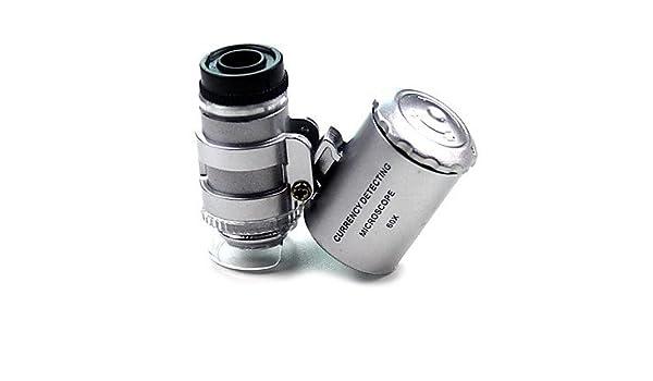 Mikroskop normal 60x x 10mm silber: amazon.de: sport & freizeit