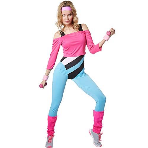 dressforfun 900572 Damenkostüm Aerobic-Star, Aerobic-Outfit im Stil der 80er Jahre (XL| Nr. 302751)