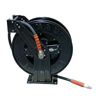 Carrete de manguera retráctil de alta presión con manguera de cola de manguera (toma manguera de 20 metros)