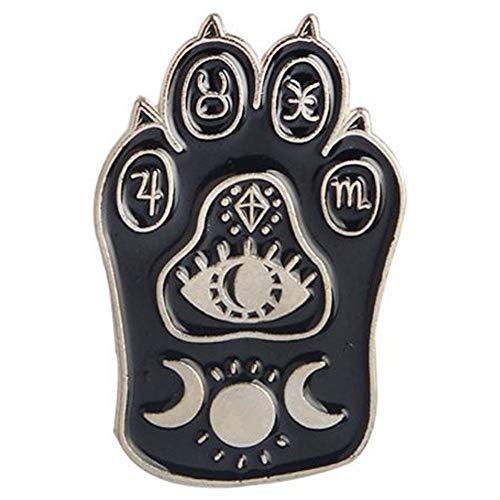 Aisoway Schwarze Katze Emaille Pin Katzen-Tatzen-Revers Pin Halloween/Weihnachten/Gothic/Hexe/Tarot Katze Zubehör Für Jacken Rucksäcke Hüte Und Tops