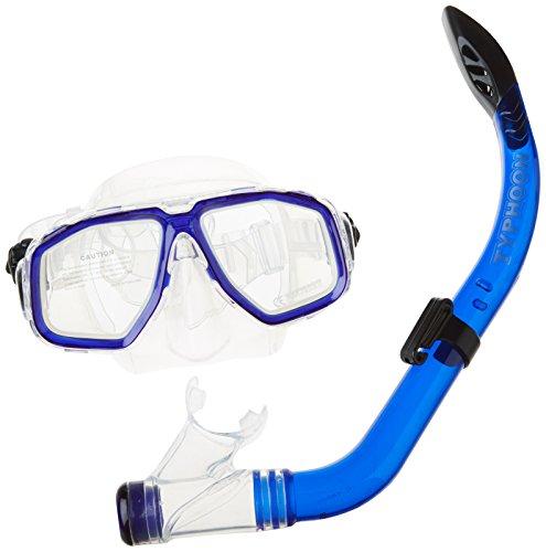 Typhoon Pro Junior Damen Schnorchel Set Blau - Unisex - Maske und Schnorchel Set ideal zum Schnorcheln und Tauchen (Junior Tauchen Maske)
