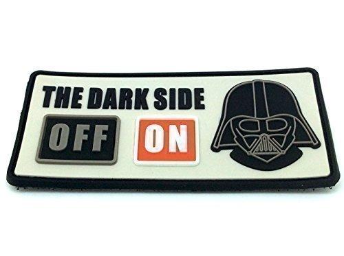 The Dark Side ON Darth Vader Star Wars Airsoft Klett PVC Aufnäher