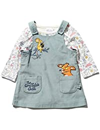 86523f4af48d0 M&Co The Gruffalo Newborn Baby Girl Teal Cord Pinny Dress Character Long  Sleeve Printed Bodysuit Set