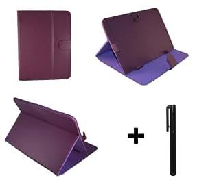 """Pourpre PU cuir Étui-support housse en pour Archos Arnova 101 G4 & 101 G9 10.1"""" 10.1 pouce inch tablette PC + Stylet"""