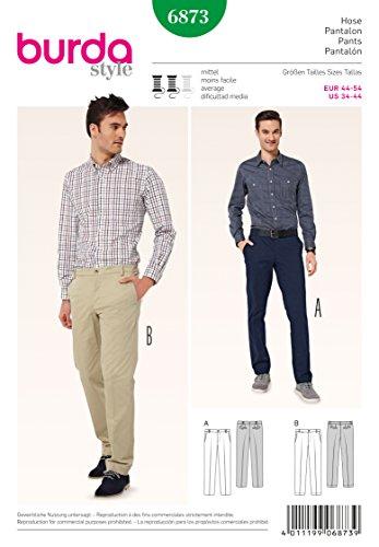 Burda B6873 Patron de Couture Pantalon Homme 19 x 13 cm