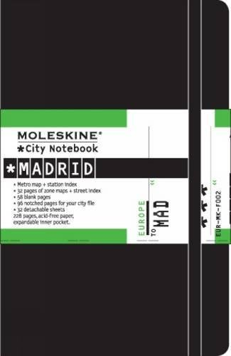 Moleskine City Notebook MADRID Couverture rigide noire 9 x 14 cm