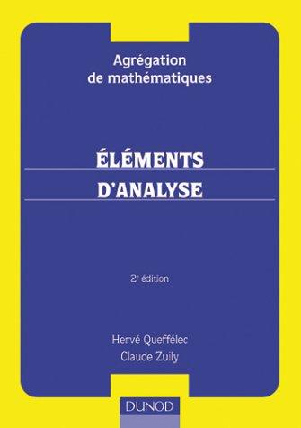 Eléments d'analyse. 2ème édition