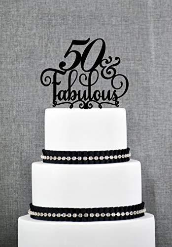 Tortenaufsatz zum 50. Geburtstag, 50 und tolle Dekoration, 50. Geburtstag, Party, Bday Cake Toppers (T204) (50 Dekorationen Bday)