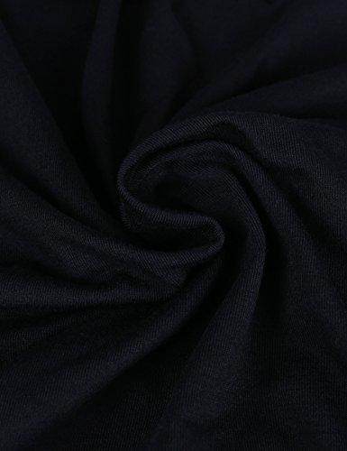 ISASSY Damen T-Shirt Casual Spitze Tops Bluse Oberteil Lace Shirt mit Spitze Schwarz