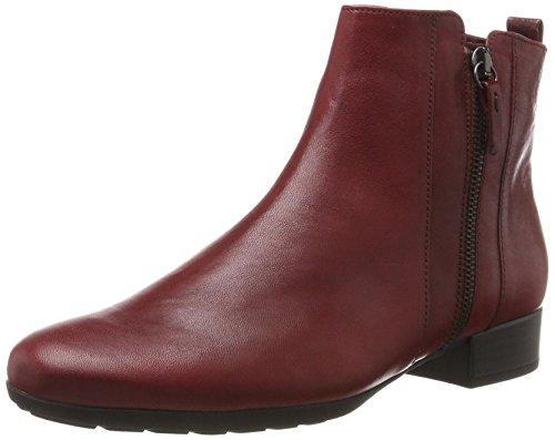 Gabor Shoes Damen Comfort Sport Stiefel, Rot (Dark-Red Micro), 40.5 (Und Schwarz Dame Rot Schuhe)