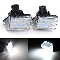 2pcs Auto 18 LED Kennzeichenbeleuchtung Nummernschildbeleuchtun Licht für M-azda 6 2003-2008, CX-5 2013-2014 , CX-7 2007-2012 , Speed 6 2006-2007, 12V Bright Weiß Lampen Leuchtmittel