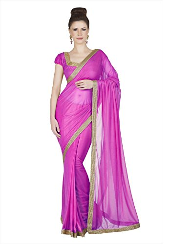 Neha Sarees Women's Georgette Half Saree (New-1-Green_Pink)