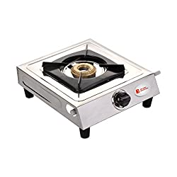 Surya Shining Flame Classic Stainless Steel 1 Burner Gas Stoves. (One Burner).