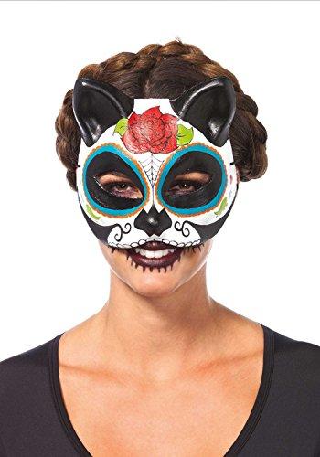Leg Avenue 3735 - Zuckerschädel Katze Maske - Einheitsgröße, mehrfarbig