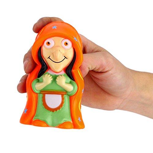 y, Soft Hexe Puppe Slow Rising Squeeze Halloween Weihnachten Party Dekoration Relax Dekompression Toys lindert Stress Geschenk, PU, Orange, 11*6.5*cm (Orange Show Halloween)