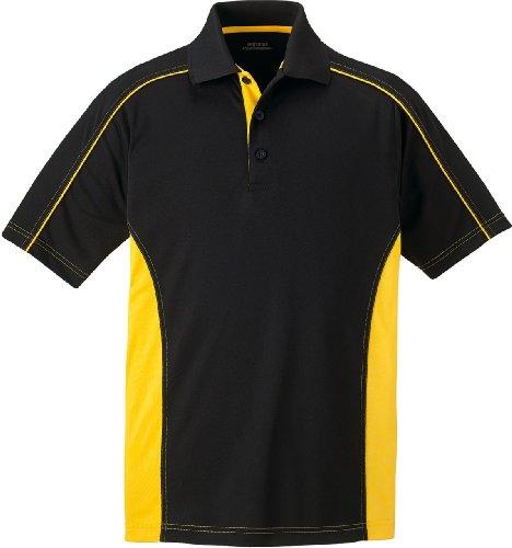 Extreme eperformance Herren 's Plus Sicherung Haken Pro Polo Shirt BLK/CMPS GLD 464