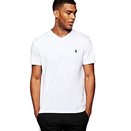 Ralph Lauren Herren T-Shirt V-Neck (XXL, White)