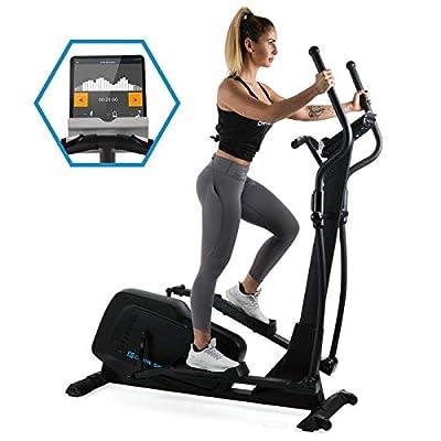 Capital Sports Helix Pro • Cross Trainer • Heimtrainer • Bluetooth • Kinomap-Applikation • MagResist-Magnet-Widerstand • 20 kg Schwungmasse • 12 Trainingsprogramme • robust • Bodenrollen • schwarz