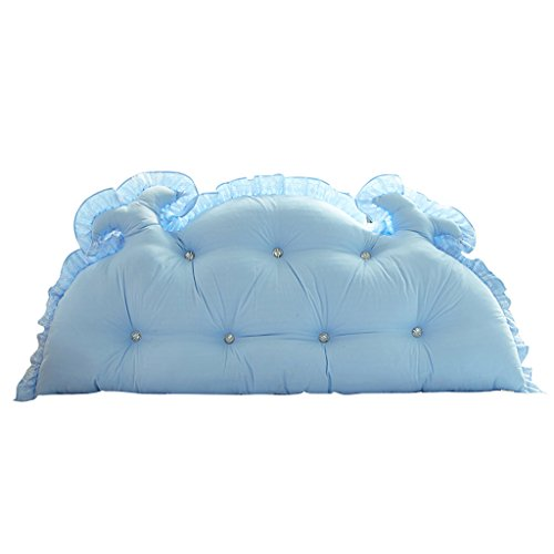 MMM- Chevet Coussin Dossier Lit Princesse Chambre Oreiller Doux Coussin Doux Lavable ( Couleur : Bleu clair , taille : 200cm )