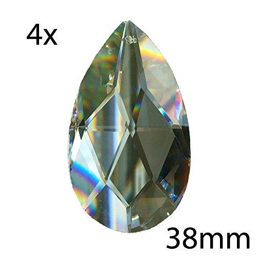 Cristallo Wachtel 38mm 4pezzi-arcobaleno cristallo-Feng Shui-esoterica-finestra gioielli-spirituale lampi di luce-30% PbO cristallo al piombo-Reich sfaccettato-Cristalli appesi-lampadario appesi-cristallo