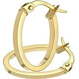 Citerna Orecchini ad Anello da Donna, Oro Giallo, 9 Carati 375