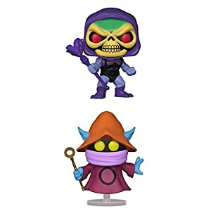 FunkoPOP Masters Of The Universe Battle Armor Skeletor Orko Cartoon Vinyl 2 Figure Bundle Set NEW
