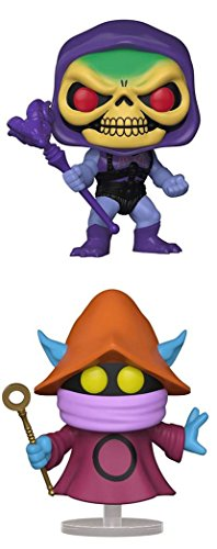 FunkoPOP Masters Of The Universe Battle Armor Skeletor Orko Cartoon Vinyl 2 Figure Bundle Set NEW