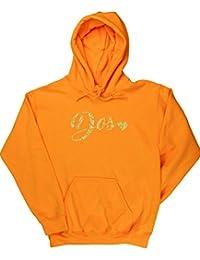 HippoWarehouse Número Dos Dorado jersey sudadera con capucha suéter derportiva unisex