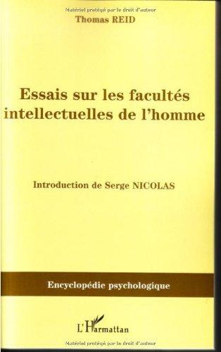 Essais sur les facultés intellectuelles de l'homme par Thomas Reid