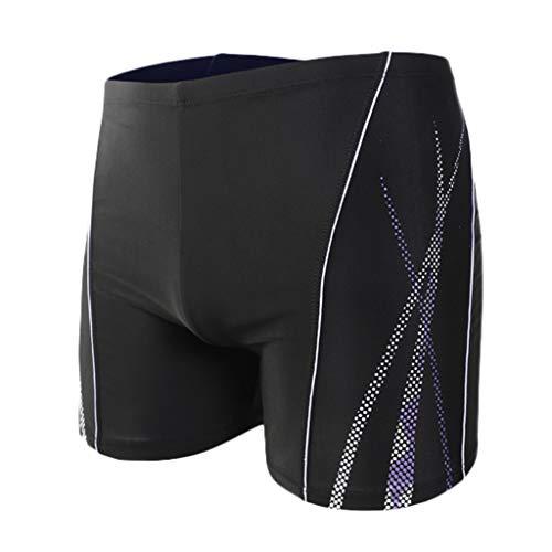 Xmiral Badehose Herren Seite Gedruckte Elastisch Taille Boxer Schnelltrocknend Strandhosen Kurze Hosen Verstellbarem Surf Shorts Badeshorts(c Weiß,4XL) Playboy Shorts