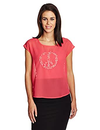 Mysterious Miss Women's T-Shirt (MQ11501069_Chalk Pink_Medium)