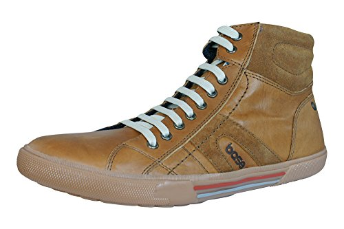 Base London World hommes cuir Hi Top Baskets / Boots