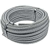 KTandT WIRE ROPE   8mm, SS 316L, 7 X 7 Construction RHO Laying   Breaking Force 40.7 KN (4151 Kgf)   Stainless Steel…