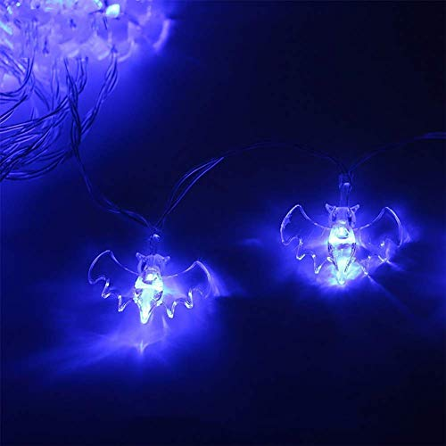 JINLE halloween - schläger string lichter, batteriebetriebene 16.5ft 40 leds wasserdicht dekoration lichter indoor/outdoor - halloween - party weihnachtsfeiertage hof dekorationen dekor, blaues licht