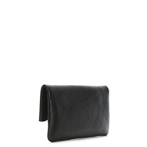 e28356ea5d3f MICHAEL by Michael Kors Everly Black Leather Fold Over Clutch ...