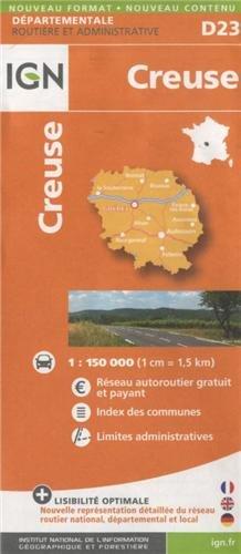D23 CREUSE 1/150.000