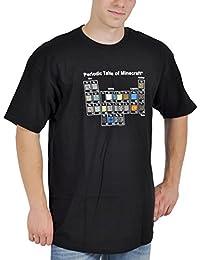 Minecraft Periodic Table Herren Gamer T-Shirt schwarz Größe S-XL