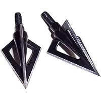 SHARROW 6 Piezas Puntas de Flecha con 3 Cuchillas Broadhead 100 Grano para Tiro con Arco Flechas de Carbono Ballesta