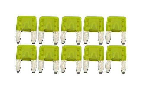 Hayward GLX-F20A-10PK 20-Amp Yellow Fuse Replacement Kit for Select Hayward Salt Chlorine Generators, Set of 10