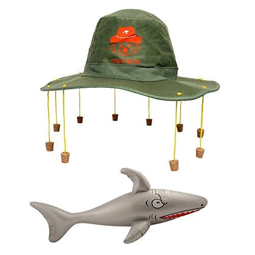 (Australien Tag Fancy Kleid Set Australischer Kork Hat + aufblasbare Shark oz Kostüm Aussie Dundee)