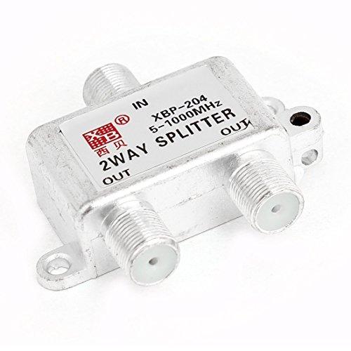 DealMux Silber Ton 2 Ways CATV-Kabel-TV-Antenne RF Signal Koaxial-Splitter -