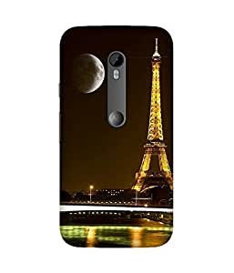 Moon And Eiffel Motorola Moto X3 Case